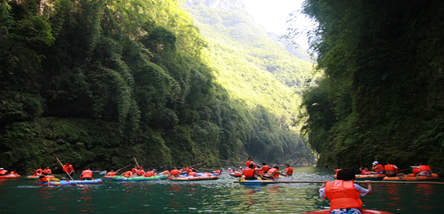 彭水阿依河•篝火晚会、峡谷观光漂流二日游