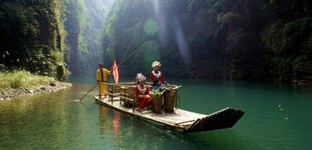 黔江芭拉胡、小南海、阿依河(漂流)二日游